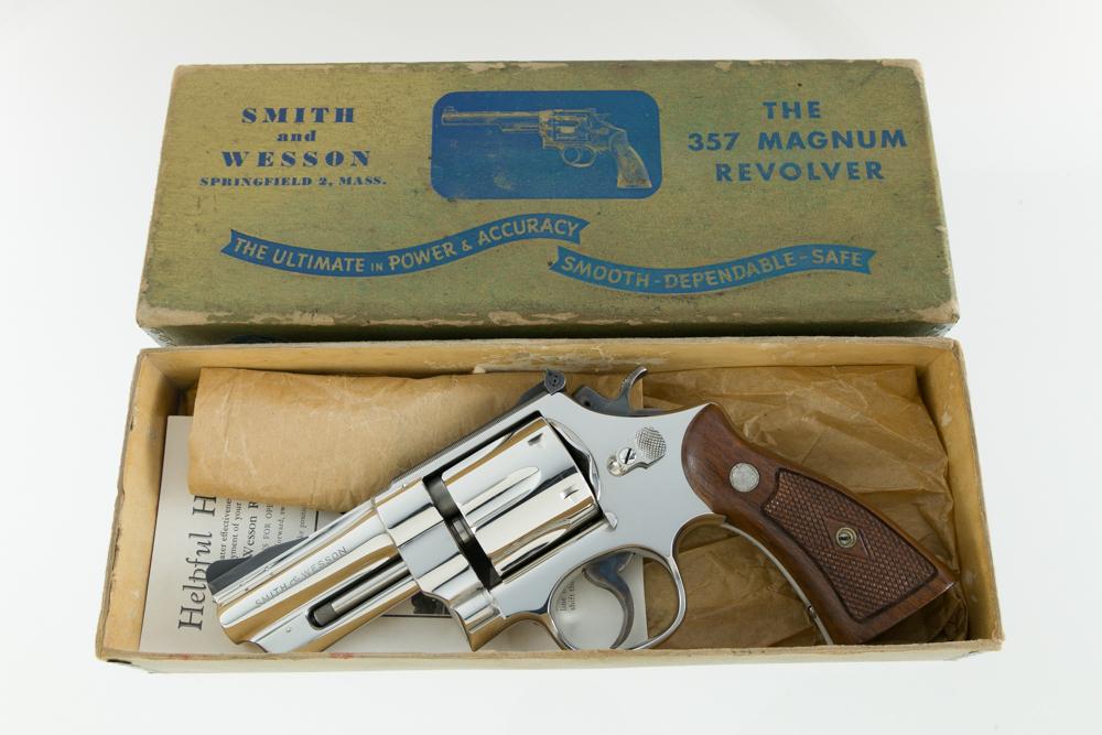 "Smith & Wesson Pre Model 27 Rare 3 1/2"" .357 Magnum Nickel"